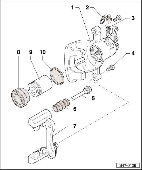 Skoda Workshop Manuals > Octavia Mk2 > Brake systems