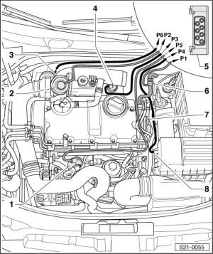 Skoda Workshop Manuals > Octavia Mk2 > Drive unit > 1977 kW TDI PD Engine > Exhaust
