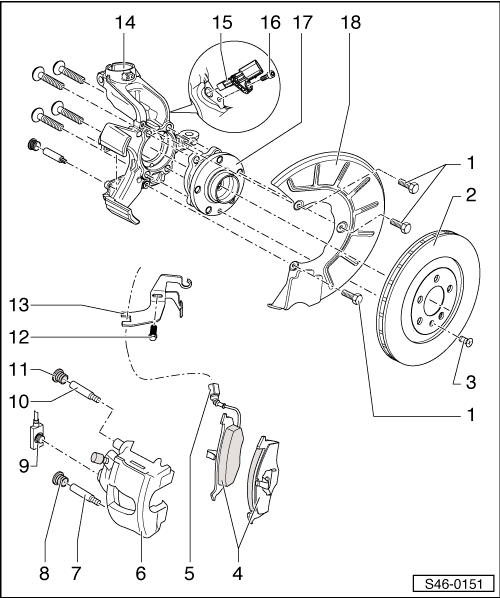 Skoda Workshop Manuals > Octavia Mk2 > Brake systems