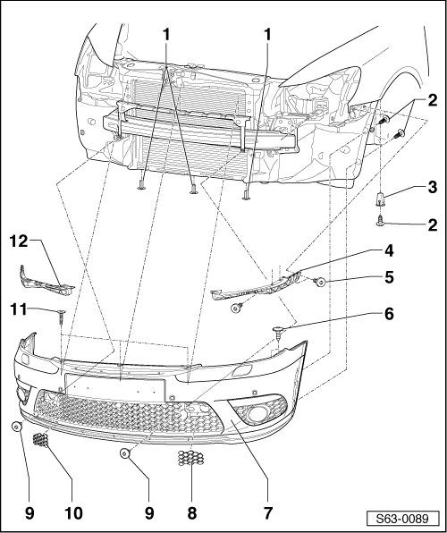 Skoda Workshop Manuals > Octavia Mk2 > Body > Body Work