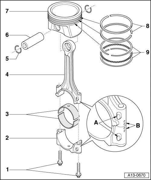 Skoda Workshop Manuals > Octavia Mk2 > Power unit > 1,6/72
