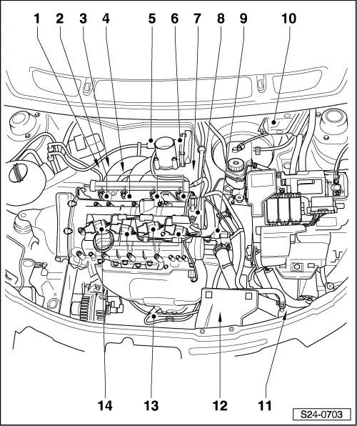 Skoda Workshop Manuals > Roomster > Power unit > 1,4/63 kW