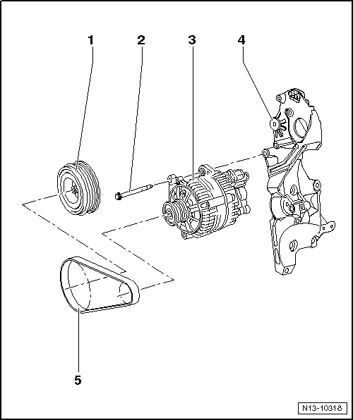 Skoda Workshop Manuals > Roomster > Power unit > 1.2/55 kW