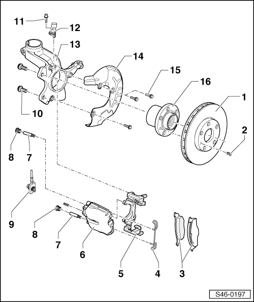 Skoda Workshop Manuals > Roomster > Chassis > Brake, brake