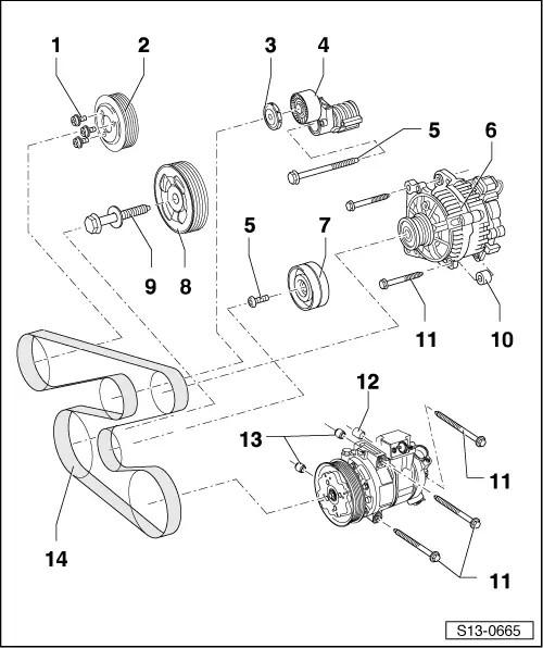 Skoda Workshop Manuals > Roomster > Power unit > 1.2/44