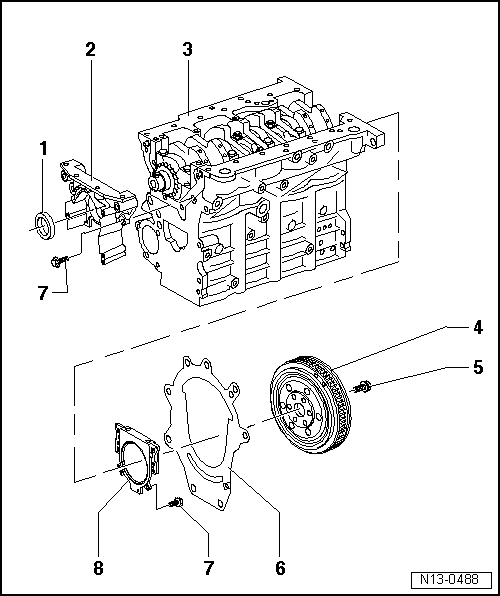 Skoda Workshop Manuals > Roomster > Drive unit > 1.9/77 kW