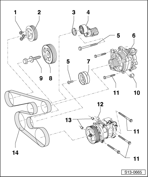 Skoda Workshop Manuals > Roomster > Drive unit > 1.2/47 kW