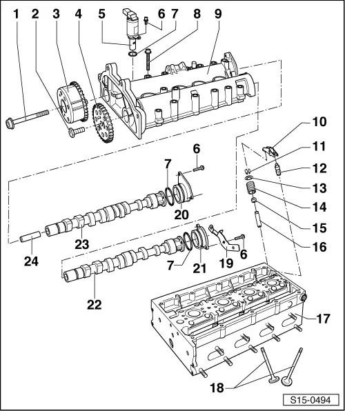 Skoda Workshop Manuals > Roomster > Power unit > 1.6/77 kW