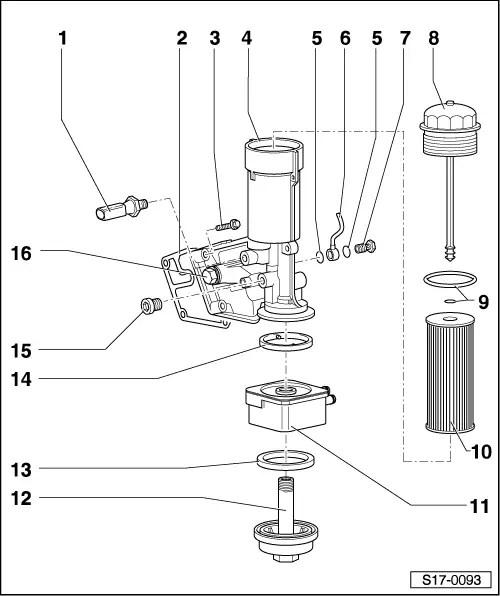 Skoda Workshop Manuals > Superb > Drive unit > 1.9/85 kW