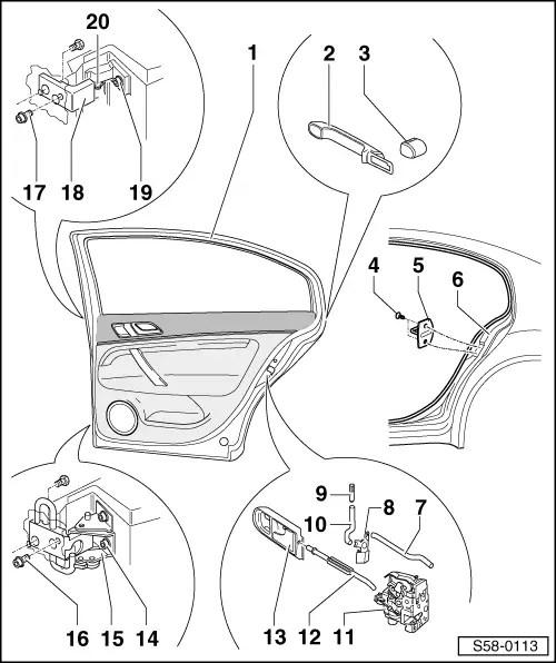 Skoda Workshop Manuals > Superb > Body > Body Work > Rear