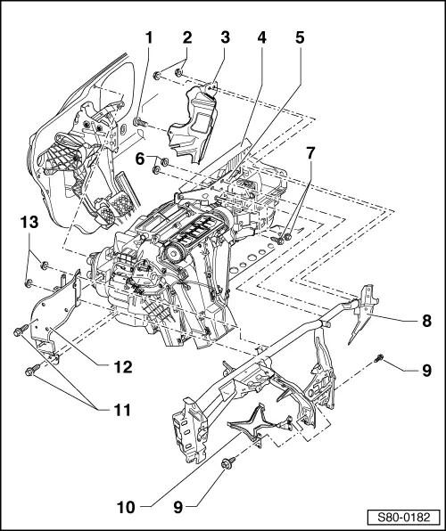 Skoda Workshop Manuals > Yeti > Heating, ventilation, air