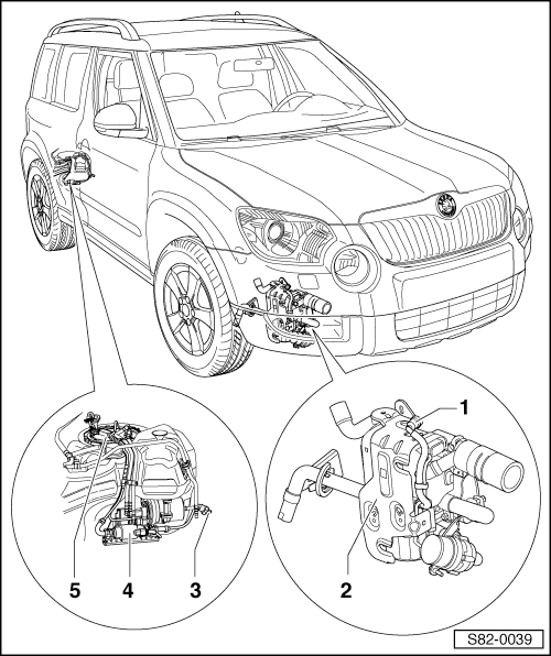 Skoda Workshop Manuals > Yeti > Heating, ventilation, air