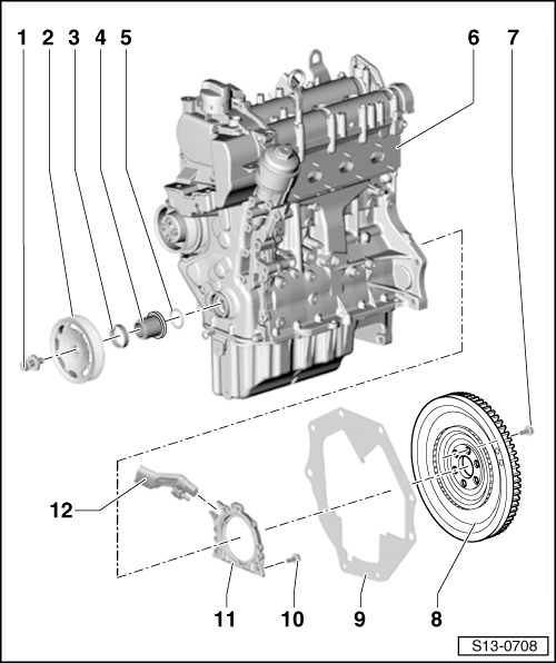 Skoda Workshop Manuals > Yeti > Power unit > 1.4/90 kW TSI