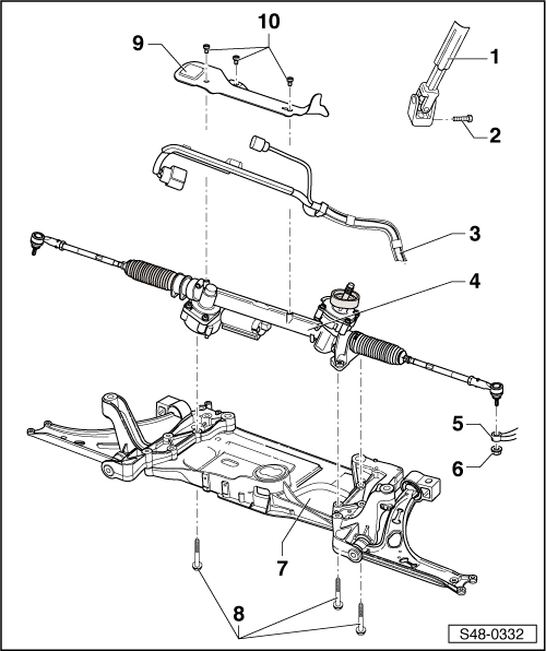 Skoda Workshop Manuals > Yeti > Axles, steering > Steering