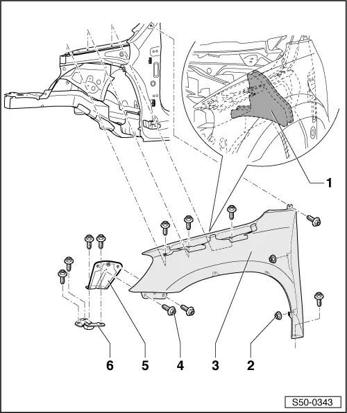 Skoda Workshop Manuals > Yeti > Body > Body Work > Body
