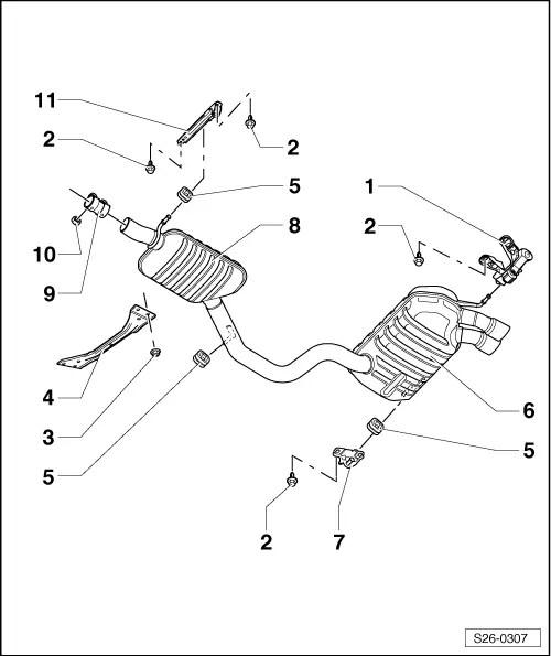 Skoda Workshop Manuals > Yeti > Power unit > 1,2/63; 77 kW