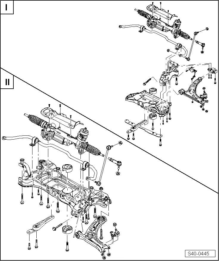 Skoda Workshop Manuals > Yeti > Axles, steering > Front