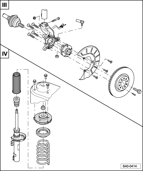Skoda Workshop Manuals > Yeti > Axles, steering > Front