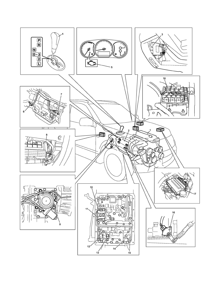 hight resolution of suzuki workshop manuals u003e grand vitara 4wd l4 2 4l 2009 automatic gearbox diagram suzuki grand vitara automatic transmission