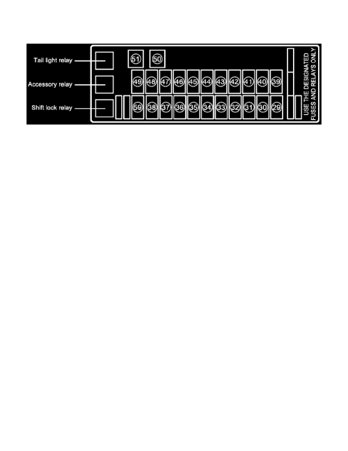small resolution of relays and modules relays and modules accessories and optional equipment accessory relay component information locations fuse box no 3 in j b