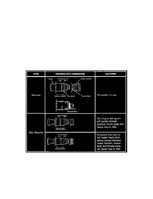 small resolution of instrument panel gauges and warning indicators cigarette lighter component information technical service bulletins interior cigarette lighter
