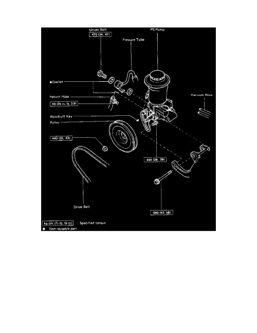 small resolution of steering and suspension steering power steering power steering pump component information service and repair removal and installation