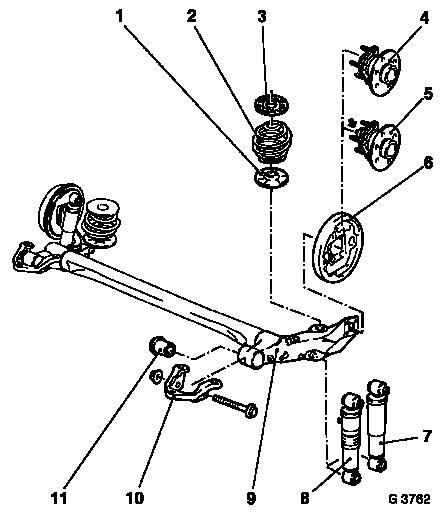 Vauxhall Workshop Manuals > Astra G > F Rear Axle and Rear