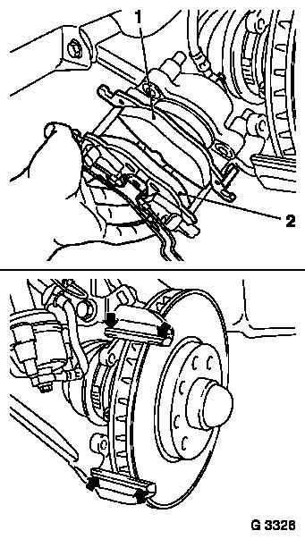 Vauxhall Workshop Manuals > Astra G > H Brakes > Front
