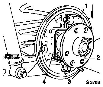 Vauxhall Workshop Manuals > Astra G > H Brakes > Rear