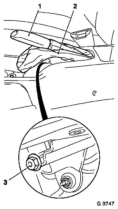Vauxhall Workshop Manuals > Astra G > H Brakes > Service Brake, Parking Brake > Parking Brake
