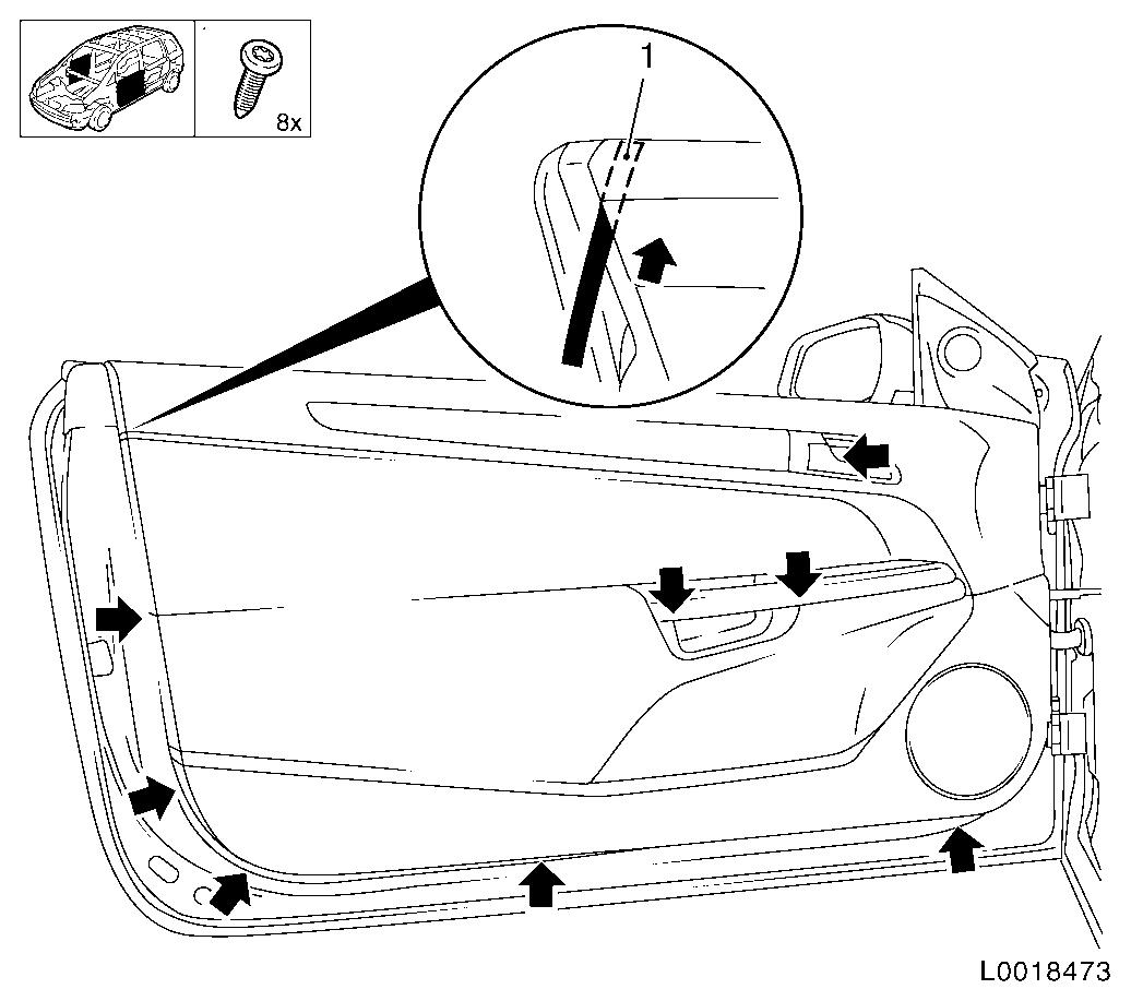 Vauxhall Workshop Manuals Gt Astra H Gt C Body Equipment Gt Seats Upholstery Inner Trim Panels