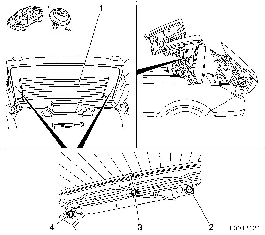 Vauxhall Workshop Manuals Gt Astra H Gt C Body Equipment Gt Folding Roof Gt Repair Instructions