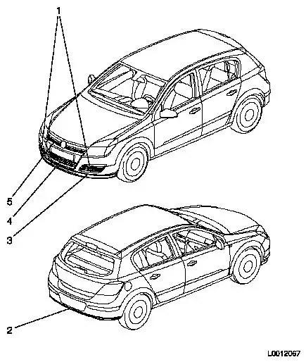 Vauxhall Workshop Manuals > Astra H > B Paint > Component