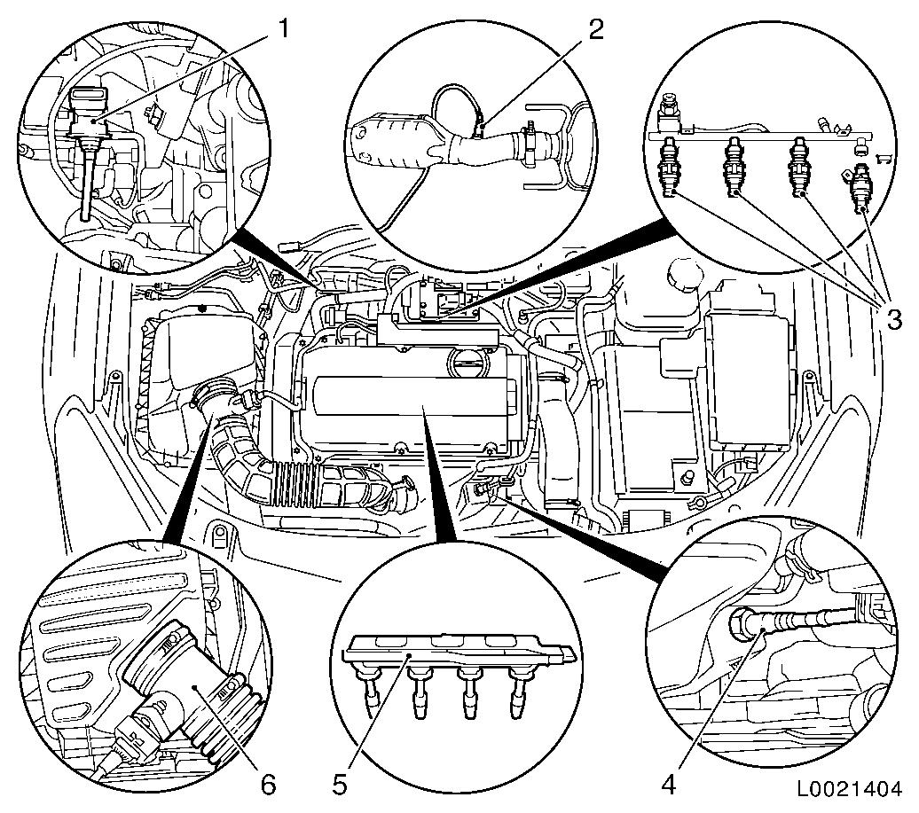 Saturn astra engine partment diagram