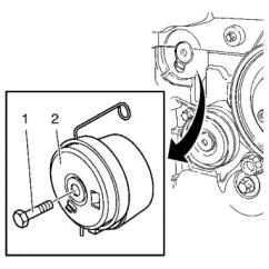 Holden Astra Timing Belt Diagram How To Wire A Light Switch And Outlet Vauxhall Workshop Manuals J Engine Mechanics 1 6l Lde Llu 8l 2h0 Repair Instructions Tensioner Removal