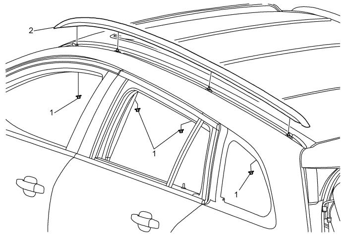 Vauxhall Workshop Manuals > Astra J > Roof > Luggage Rack