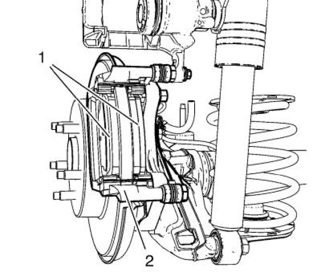 Note The Wear Sensor Equipped Disc Brake Pad Must Be Mounted Inboard Of The Rotor With The Leading Edge Of The Sensor Facing The Brake Rotor During Forward