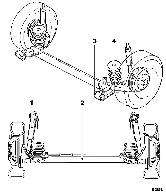 Vauxhall Workshop Manuals > Corsa B > F Rear Axle and Rear