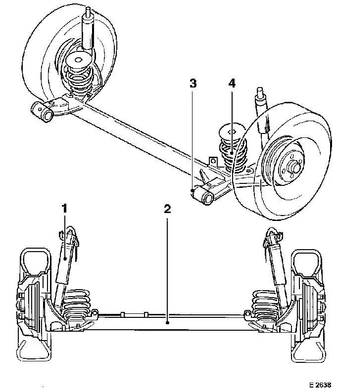 Vauxhall Workshop Manuals > Corsa B > F Rear Axle and Rear