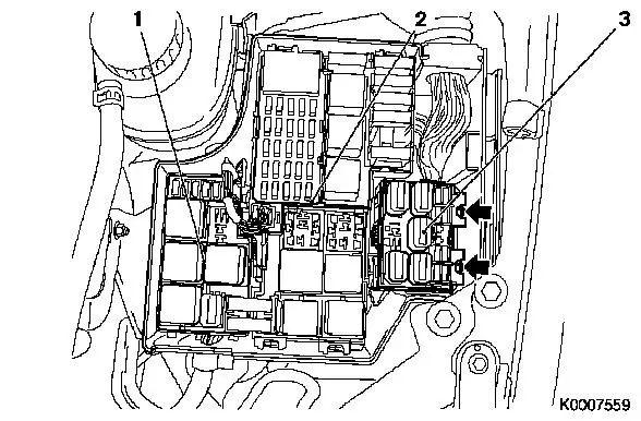 vauxhall movano engine bay fuse box