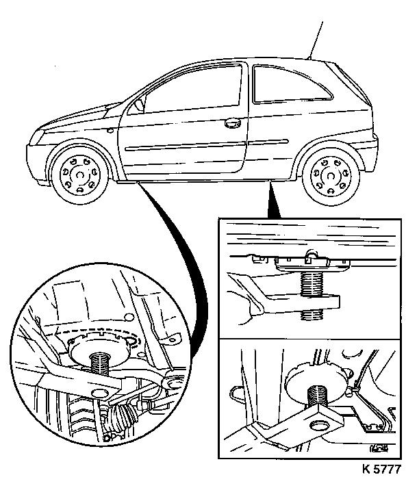 Vauxhall Workshop Manuals > Corsa C > E Front Wheel