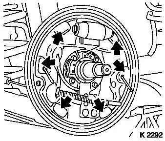 Vauxhall Workshop Manuals > Corsa C > H Brakes > Rear