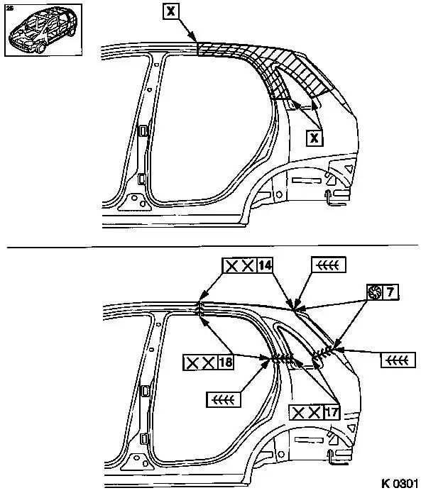 Vauxhall Workshop Manuals Corsa D A Maintenance Body And