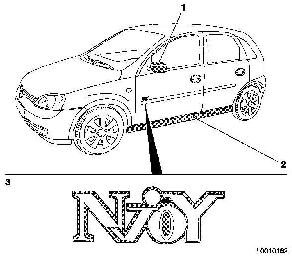Vauxhall Workshop Manuals > Corsa C > B Paint