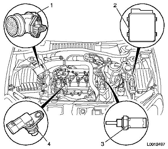 2001 Toyota 4runner Engine Partment Diagram