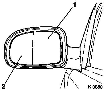 Rear View Mirror Wiring Harness, Rear, Free Engine Image