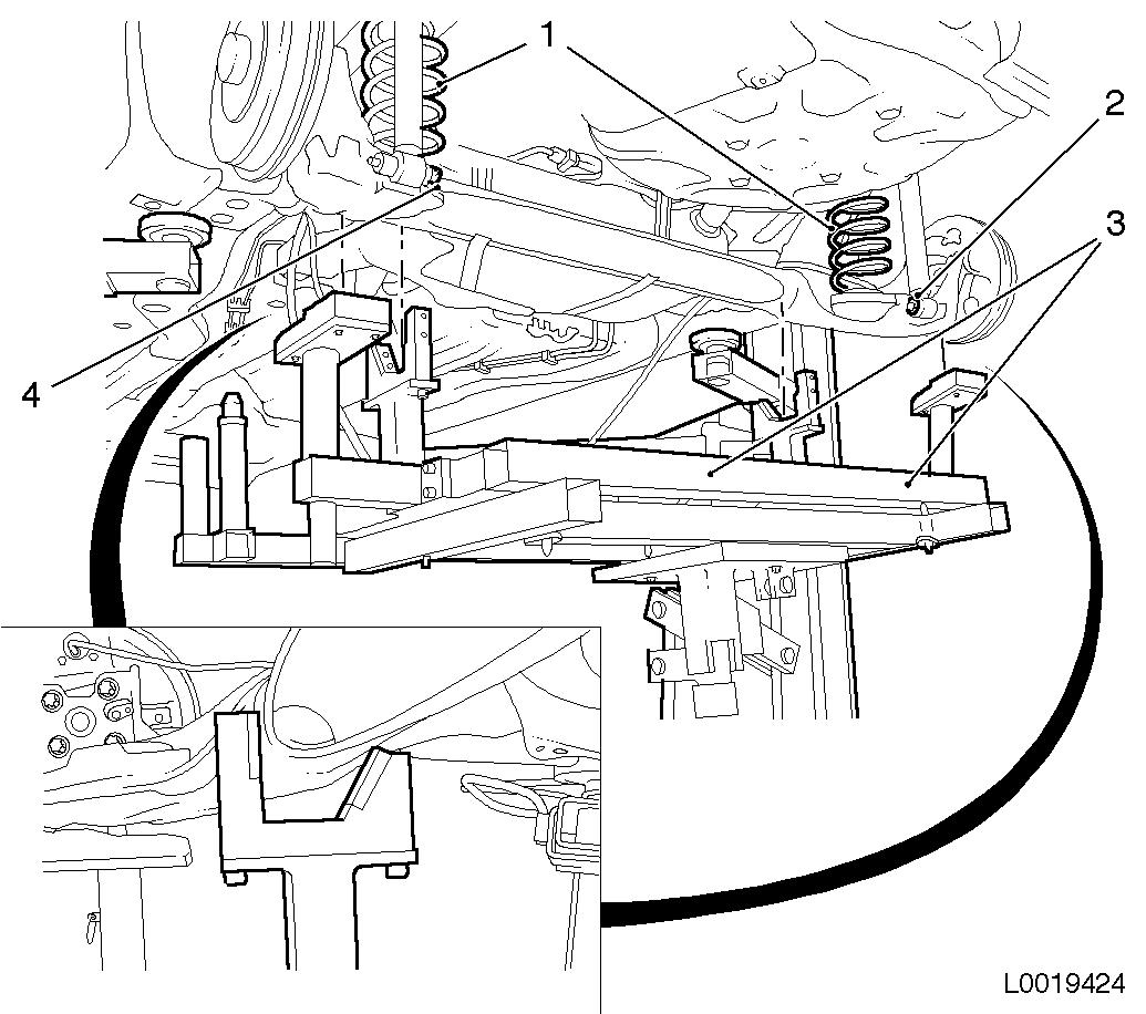 Vauxhall Workshop Manuals Gt Corsa D Gt F Rear Axle And Rear