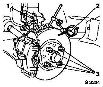 Vauxhall Workshop Manuals > Corsa D > H Brakes > Rear