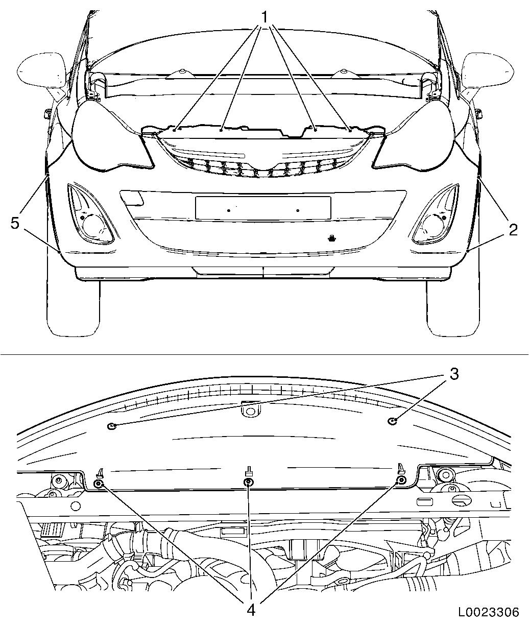 Vauxhall Workshop Manuals > Corsa D > A Maintenance, Body and Chassis Sheet Metal Parts, Frame