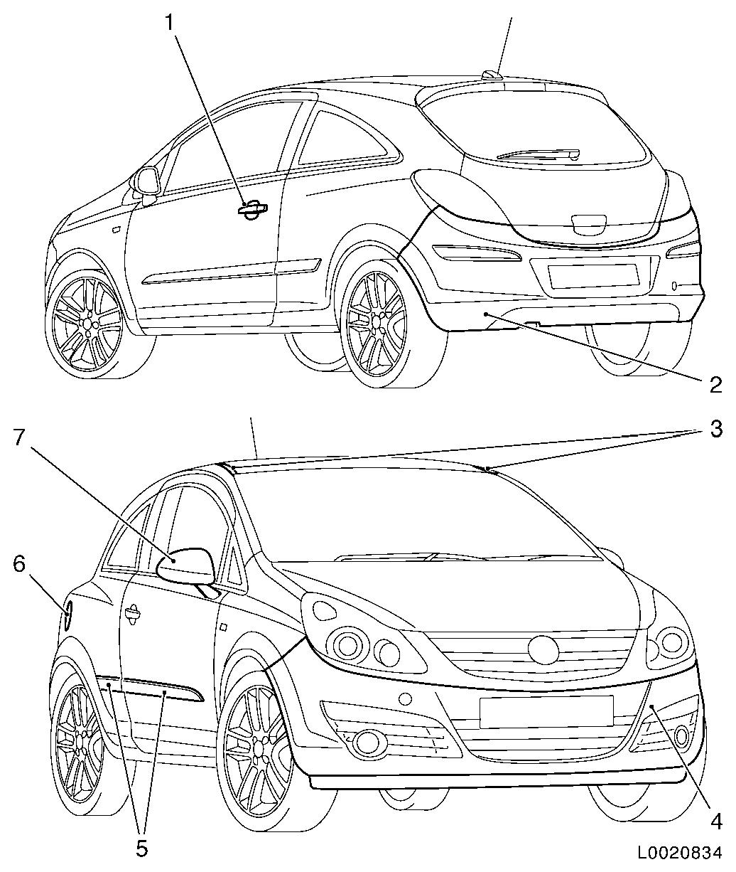 Vauxhall Workshop Manuals > Corsa D > B Paint > Painting